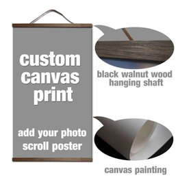 Custom Photo Canvas Prints Australia - your picture favorite photo family baby canvas painting poster and custom print art with solid wood hanging scrolls