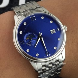 $enCountryForm.capitalKeyWord NZ - Mens Luxury Watch Fully Automatic Movement 24 Hours Moon Phase Display Auto date Stainless Steel Case Sapphire Glass Stylish Steel Strap