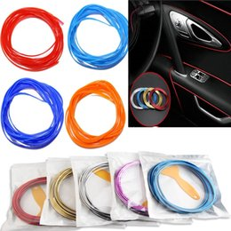 Moulding line online shopping - 5M bag Interior Decorative Line Strips Moulding Trim Dashboard Door Edge Universal For Car stickers Auto Accessories In Car Styling FA2188