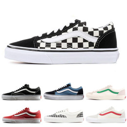 a55869cb01b3e5 Hot sale YACHT CLUB Vans old skool FEAR OF GOD black white MARSHMALLOW  green PRIMAR men women sneakers fashion skate casual shoes 36-44