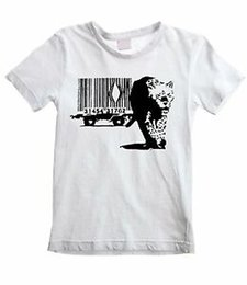 Leopard Kids T Shirts Australia - BANKSY BARCODE LEOPARD UNISEX KIDS T-SHIRT - Graffiti Street Art - All Sizes