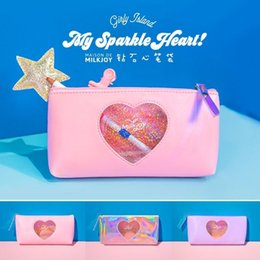 Man Made Diamonds Australia - New Milkjoy Laser Lucency Cosmetic Cases Cute Diamonds Hologram Girl Make up Bag Travel Toiletry Bags Pouch Pencil bag Bentoy #164221