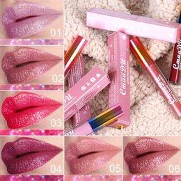 Mixing Red Purple Lipstick Australia - CmaaDu 6 Colors Glitter Liquid Lipstick 4ML Rouge a levre Waterproof Lip Gloss Lipgloss beauty lipsticks Kit