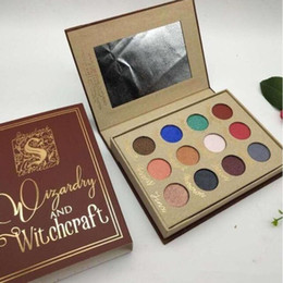 cosmetic nude Canada - Hot Sales Harry Potter Magic Book 12 Color Eyeshadow Wine Red Nude Earth Color Eyeshadow Waterproof Lasting Cosmetics