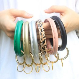Leather Bracelet Key Chain PU Wrist Key Ring Tassel Pendant Wristbands Sports Keychain Bracelets Bangle Round Rings ZZA1446 from hair weave for sale wholesale manufacturers