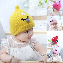 aa69549da6d Unisex Christmas Nipple Knit Autumn Winter Baby Hair Ball Wool Velveted Hat  Cap Cool and warm hat