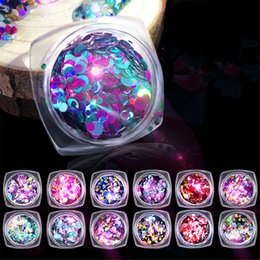 $enCountryForm.capitalKeyWord NZ - Shiny Round Laser Sequins Colorful Nail Art Glitter Mermaid Nail Flakes Tips Decorations 3D Mermaid Manicure Design Accessories