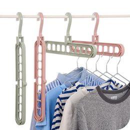 $enCountryForm.capitalKeyWord Australia - Multi-functional Anti-slip Clothing Hanger Cloth Storage Hanger Rack Household Foldable Space Saving Wardrobe Cloth Clip Laundry Product
