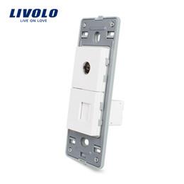 Function Connectors Australia - Livolo US Standard DIY Parts Plastic Materials Function Key, TV & Computer Socket Base,Safety household socket base