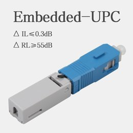 $enCountryForm.capitalKeyWord Australia - 100PCS Embedded Fiber Optic Quick Connector Cold SC UPC FTTH SC Single Mode UPC Fast Connector