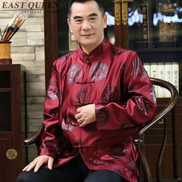Mandarin suits for Men online shopping - Traditional chinese clothing for men male shanghai tang suit clothing mandarin collar jacket winter coat men KK1598