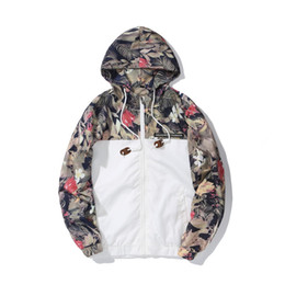 Discount flower jackets - Floral Bomber Jacket Men Hip Hop Slim Fit Flowers Pilot Jacket Coat Men's Hooded Jackets Euro Size S-2XL Drop Shipp