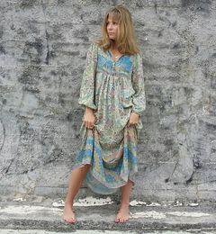 15cebd2690082d Cotton Hippie Dresses Australia - Dreamy Oasis Boho Maxi Dress V-Neck with  Tassel Hippie