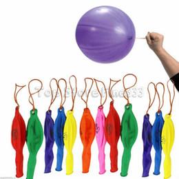 Venta al por mayor de 8 gramos de Globos gruesos Globos para acariciar a mano Bungee Látex Globos Día de los niños Juguetes inflables Globos de aire Fiesta de cumpleaños