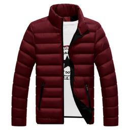 Mens Parka Leather Canada - Winter jackets mens thicken wadded leather Coat Jaqueta Masculina winter jacket men stand Collar windbreaker Parka Coats J1