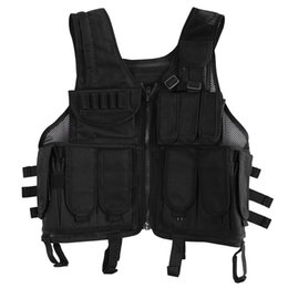 Molle vest gear online shopping - Lixada Outdoor Hunting Molle Vest Gear Load Carrier Vest Modular Chest Set Molle Chest Rig Adjustable Training CS Gaming