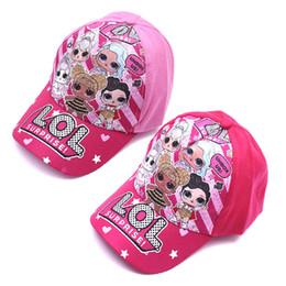 Nueva muñeca de dibujos animados casquillo de la historieta del sombrero del otoño verano al aire libre visera gorra de béisbol de los niños del sombrero de los niños lol en venta
