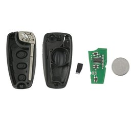 ford blades Australia - 3 Buttons Flip Folding Remote Car Key For Fawkes 3 For Focus Mk1 Fiesta 2013 433Mhz With 4D63 Chip HU101 Blade ASK