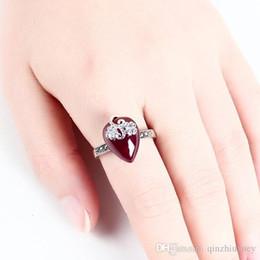 IndIan sprIngs online shopping - Nlm99 Thai silver inlaid garnet rings retro genuine court women s jewelry spring fashion Garnet Sapphire Ruby