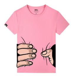 89540ed15b4 Summer men Women Tshirt Designer big Hand 3D Print Cotton Casual Funny T- Shirt pink Short Sleeve Slim Sexy Femme T Shirt Lovers tees