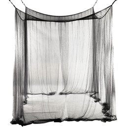 $enCountryForm.capitalKeyWord UK - 4-Corner Bed Netting Canopy Mosquito Net for Queen King Sized Bed 190*210*240cm (Black)