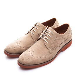 formal working shoes 2019 - Spring Autumn Work Men Dress Shoes Fashion Brogue Shoes Business Formal Wedding British Style Casual Shoes cheap formal