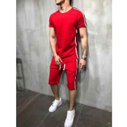 $enCountryForm.capitalKeyWord Australia - 2019 new fashion men's sportswear shorts two pieces + summer T-shirt sweatshirt suit jogging man jogging suit men
