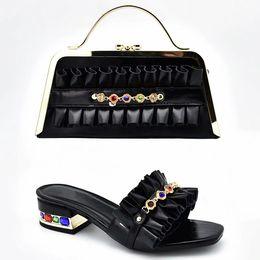 $enCountryForm.capitalKeyWord Australia - 2019 brand fashion designer luxury handbags purses African Heeled shoes bag set for women Lace Vrouwen Afrikaanse Bruiloft Schoenen en Tas S