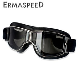 pilot goggles motorcycle helmet UK - rotective Gears Glasses Motocross Goggles Helmet Pilot Scooter Retro Moto Outdoor Dirt Bike Riding Sunglasses Retro Motorcycle Glasses Vi...