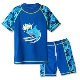 $enCountryForm.capitalKeyWord NZ - BAOHULU 3-12 Years Boys Swim Clothing Set UPF50+ Lycra Two Pieces Swimsuit for Children Boy Kids Beach Swim Suits Top+Shorts