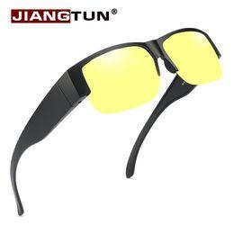 911715d6fef JIANGTUNBrand Polarized sunglasses UV400 fit over glasses For Men and Women  Glasses cover sun fishing