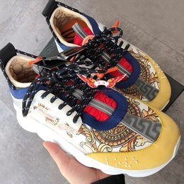 HeigHt sHoe cHina online shopping - 2019 newest Fashion toq high Chain Reaction sneaker designer luxury brand sneakers cheap china shoes for sale