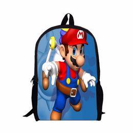 super mario school bags 2019 - New Hot Sale Children's 3D Cartoon Backpack Cool Super Mario School Backpack for Kids Mario Bros Shoulder Bags for