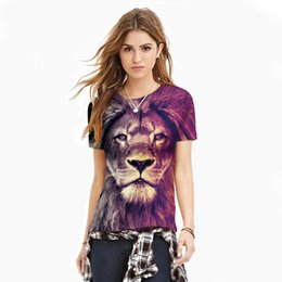 $enCountryForm.capitalKeyWord UK - Fshionable Lovers T-Shirts Short Sleeve Tiger Patten 3D Printed His-and-Hers Shirts Cheap Fast Shipping T-001