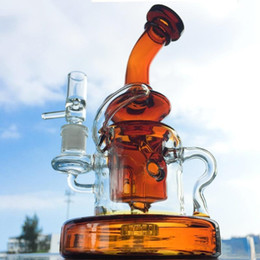vortex oil glass NZ - Glass Bongs Double Recycler Bong Vortex Water Pipe Glass Pipes Cyclone Oil Rigs Heady Dab Rig