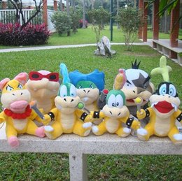 Koopa Figures Australia - Free Ship 7Pcs Set Super Mario Roy Bully Lemmy Wendy Larry Morton Lggy Ludwig Koopa Bowser Koopalings Plush Doll Toy Stuffed Hot Toys