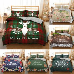 merry christmas bedding Canada - Merry Christmas Bedding Cover 3d Printed Deer And Santa Claus Duvet Cover Set With Pillowcase Microfiber Bedclothes