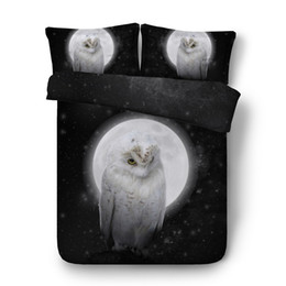$enCountryForm.capitalKeyWord UK - 3pcs colorful parrots quilt covers sets single size white owl duvet cover set for kids girls boys macaw bedding queen king size