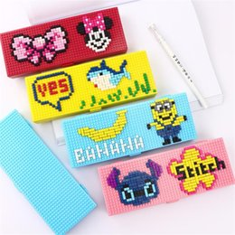 cuboid boxes 2019 - TOPSTHINK style pencil box cuboid flip puzzle block DIY pen box cool hard cartoon characters pencil case for student che