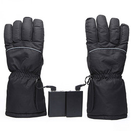 ElEctric warming glovEs online shopping - Winter Warm Rechargeable Electric Battery Heated Gloves for Motorcycle Outdoor