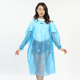 Wholesale tour coat for sale - Group buy Disposable PE Raincoats Poncho Rainwear Travel Rain Coat Rain Wear Portable Waterproof Poncho For Outdoor Rafting RRA2858
