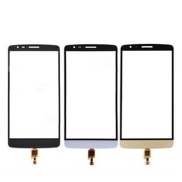 lg white screen NZ - 10pcs High quality for LG G3 Stylus D690N D690 Touch Screen Digitizer Front Panel Glass Lens Black White Gold