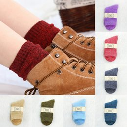 ladies running socks Canada - Free DHL 10 Styles Lady Autumn Winter Cotton Warm Socks Fashion Casual Socks Heavy Thermal Thick Plus Velvet Stockings for Women Girls M754F