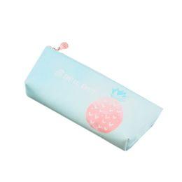 $enCountryForm.capitalKeyWord Australia - Cute Fruit Green Leaf Pencil Case For Girls Pu Leather Pencil Bag Pen Box Stationery Pouch Gift School Supplies