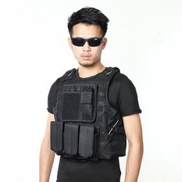 Discount army combat vest - by dhl 20pcs hot USMC Tactical Molle Combat Assault Plate Carrier Vest CS Outdoor Equipment Army Camouflage