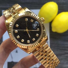 solid gold wristwatch 2019 - 2019 hot sale 41mm Wristwatches Stainless Steel Solid Clasp Automatic movement 2813 Mechanical Watch Men Datejust Desing