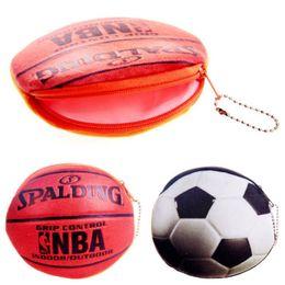 $enCountryForm.capitalKeyWord Australia - 1pcs Cartoon basketbal ball flannelette children zipper bag kids zero wallet girl boy purse,lady coin wallets Case