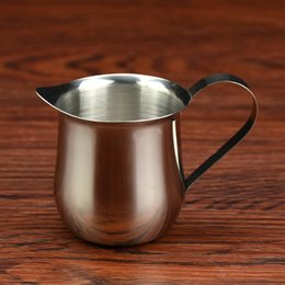 Stainless Steel Milk Cup Coffee Bar Appliances Jug Tank Multi Capacity Wear Resistant Hot Sale 10nb3 UU on Sale
