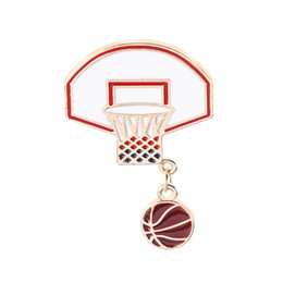 $enCountryForm.capitalKeyWord UK - Pins and brooches Basketball love fans Basketball stand ball frame Enamel pins Badges Lapel pins Women Summer Beach Jewelry