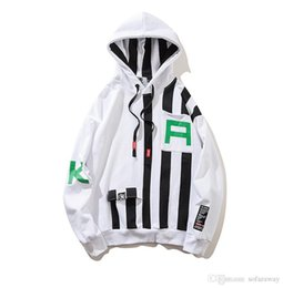 block fashion men NZ - Color Block Patchwork Stripe Hoodie Sweatshirts Men Women Fashion Pullover Mens Harajuku Hip Hop Streetwear Hoodies